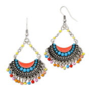 Decree® Multicolor Bead Fan Earrings