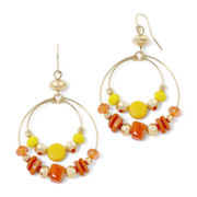 Mixit™ Multicolor Bead Double-Oval Gypsy Earrings