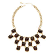 Monet® Tortoise-Look Stone Statement Necklace