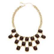 Monet® Tortoise-Look Stone Statement Necklace