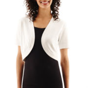 R&K Originals® Short-Sleeve Bolero Shrug Sweater