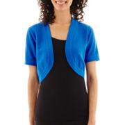 R&K Originals® Short-Sleeve Bolero Shrug Sweater