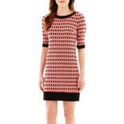 R&K Originals® Elbow-Sleeve Diamond Shift Dress