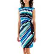 R&K Originals® Sleeveless Print Side-Tie Dress