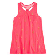 Total Girl® Glitter-Print Racerback Tunic - Girls 7-16 and Plus