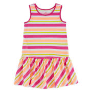 Okie Dokie® Sleeveless Ruffle-Skirt Dress - Girls 2t-5t