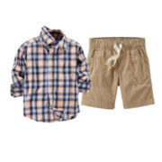 Carter's® Plaid Shirt or Khaki Shorts - Baby Boys 6m-24m