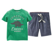 Carter's® Graphic Tee or Chambray Shorts - Baby Boys 6m-24m