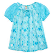 Arizona Short-Sleeve Peasant Top – Girls 7-16 and Plus