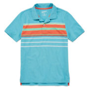 Arizona Striped Short-Sleeve Polo Shirt − Boys 8-20 and Husky