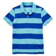 Arizona Striped Short-Sleeve Polo Shirt − Boys Husky