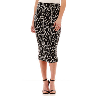Bisou Bisou® Print Midi Skirt  found at @JCPenney