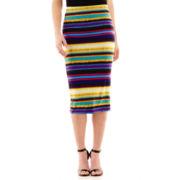 Bisou Bisou® Print Midi Skirt