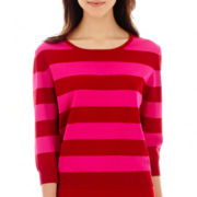 MNG by Mango® 3/4-Sleeve Striped Sweater