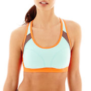 Xersion™ Removable Cup Colorblock Sports Bra with Mesh Insets