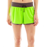 Xersion™ Double-Layer Tricot Mesh Shorts - Tall