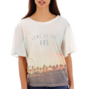 Levi's® Short-Sleeve Cropped Graphic Easy Fit Tee