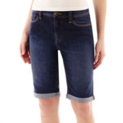 St. John's Bay® Denim Bermuda Shorts - Tall