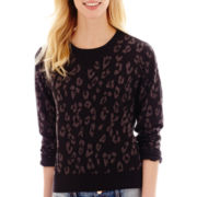 I 'Heart' Ronson® Long-Sleeve Leopard Print Sweatshirt