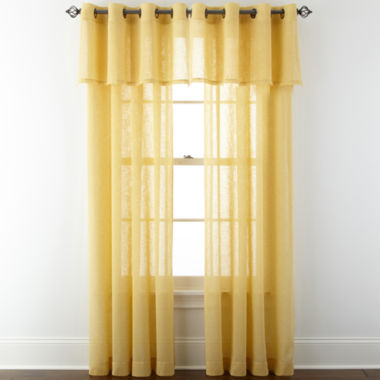 jcpenney.com | JCPenney Home™ Bayview Grommet-Top Sheer Panel