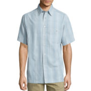 Haggar® Short-Sleeve Microfiber Woven Shirt