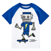 Okie Dokie® Graphic Raglan Tee - Toddler Boys 2t-5t
