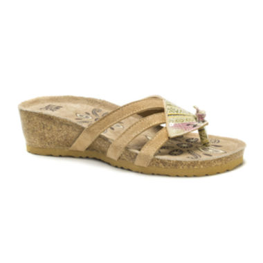 jcpenney.com | Muk Luks® Allison Wedge Sandals