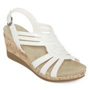 Yuu™ Greta Strap Wedge Sandals
