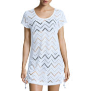 Wearabouts® Cap-Sleeve Crochet Tunic Swim Cover-Up