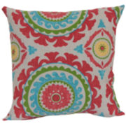Outdoor Oasis™ Suzani Swirl Outdoor Pillow