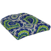 Outdoor Oasis™ Suzani Swirl 2-Pack Wicker Outdoor Seat Cushions