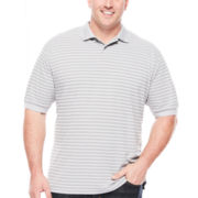 Claiborne® Short-Sleeve Performance Striped Polo - Big & Tall