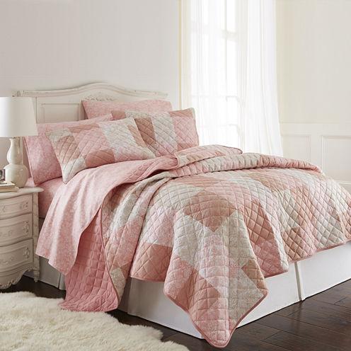Micro Flannel® Patchwork Quilt Set