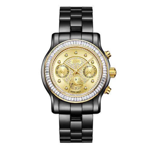JBW Laurel 0.09 C.T.W Womens Black Bracelet Watch-J6330h