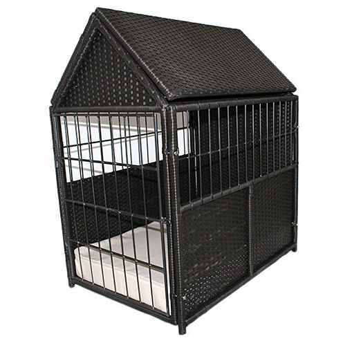 Iconic Rattan With Storage Pet Crate