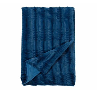 jcpenney.com | Cathay Home Asubry Embossed Faux Fur Throw