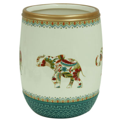 Bacova Guild Boho Elephant Wastebasket