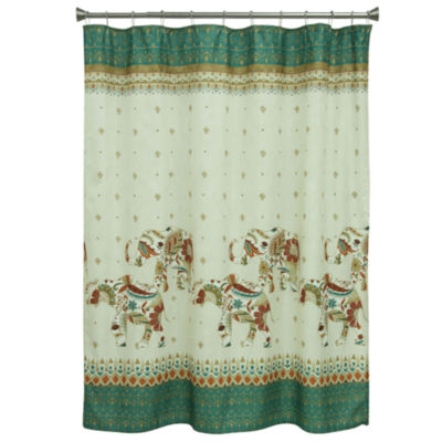 Bacova Guild Boho Elephant Shower Curtain