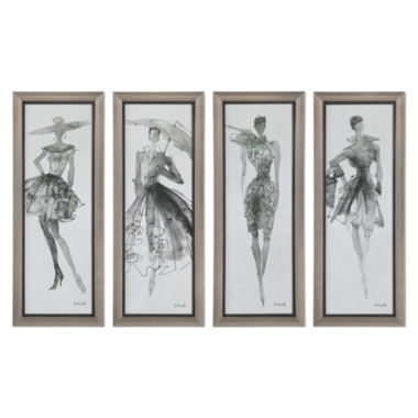 jcpenney.com | Fashion Sketchbook Wall Art (Set Of 4)