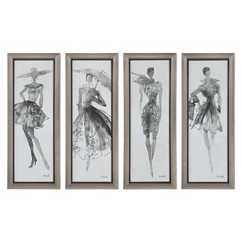 Fashion Sketchbook Wall Art (Set Of 4)