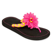 Total Girl® Fibi Flower Flip Flops - Little Kids/Big Kids