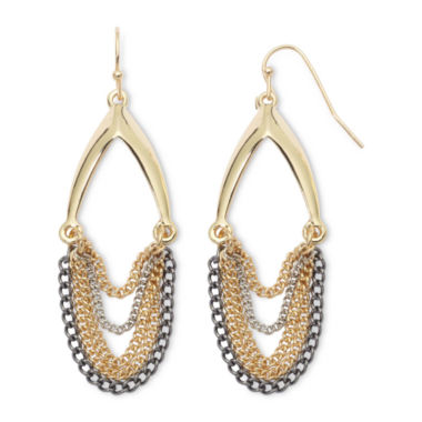 jcpenney.com | nicole by Nicole Miller® Swag Chain Earrings