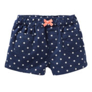 Carter's Canvas Shorts - Girls 6m-24m