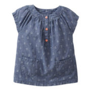 Carter's® Anchor Print Chambray Tunic - Girls 6m-24m