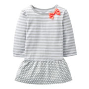 Carter's® Gray Striped and Polka Dot Tunic - Girls 6m-24m