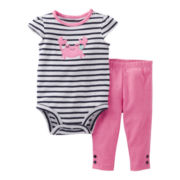 Carter's® 2-pc. Bodysuit and Pants Set - Girls nb-24m