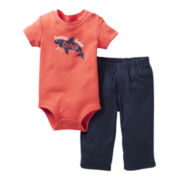 Carter's® 2-pc. Bodysuit and Pants Set - Boys nb-24m