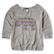 Flowers by Zoe by Kourageous Kids Elephant Sweatshirt  - Girls 6-16
