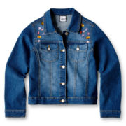 Flowers by Zoe by Kourageous Kids Jeweled Denim Jacket  - Girls 6-16
