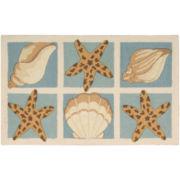 Nourison® Shells Utility Rectangular Rug